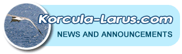 Korcula-larus news and announcements