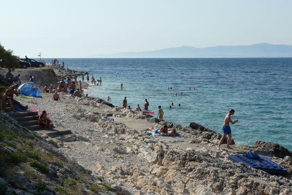 Beach in Prigradica - island of Korcula