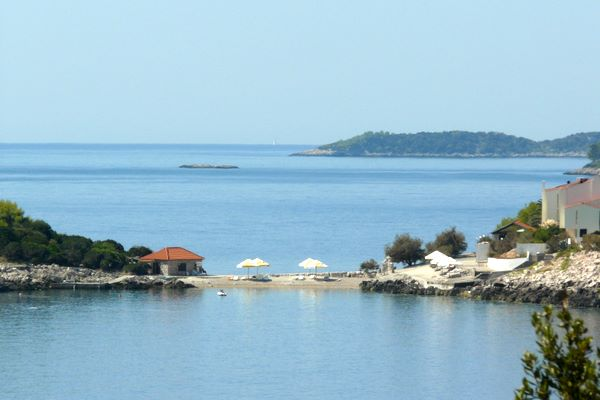 Beach in Priscapac - island of Korcula
